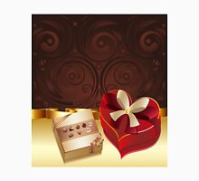 Brown Background with Chocolate Box 3 Unisex T-Shirt