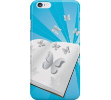 Butterfly cut out of book iPhone Case/Skin