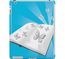 Butterfly cut out of book iPad Case/Skin