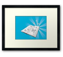 Butterfly cut out of book Framed Print