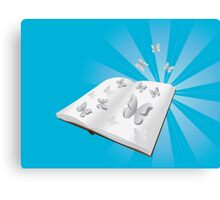 Butterfly cut out of book Canvas Print