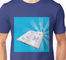 Butterfly cut out of book Unisex T-Shirt