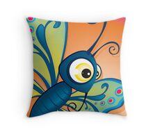 Critterz - Butterfly1 Throw Pillow
