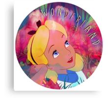 Alice In Wonderland Magic Mushrooms Canvas Print