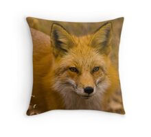 Red Fox Sneaking Throw Pillow