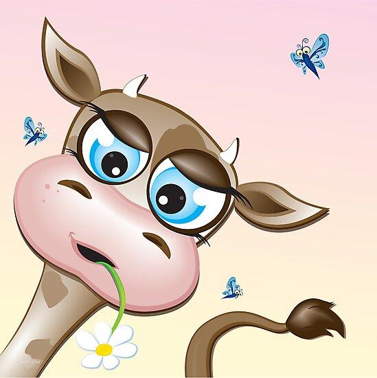 Critterz-Brown Cow - daisy by Kat Massard