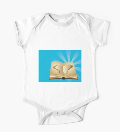 Butterfly cut out of book 2 One Piece - Short Sleeve