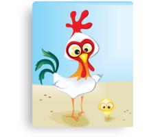 Critterz - Chook & Chick Canvas Print