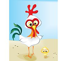 Critterz - Chook & Chick Photographic Print