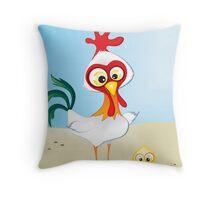 Critterz - Chook & Chick Throw Pillow