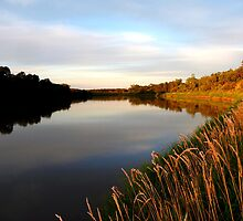 Autumn on the Assiniboine At Dusk... by Larry Trupp