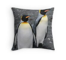Penguin Duo 2 Throw Pillow