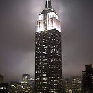 Empire State Building in the fog by Philipp Verges