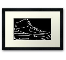 Air Jordan 2 White Framed Print