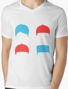 Coloured Mops Mens V-Neck T-Shirt
