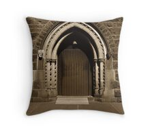 St.Patricks cathedral door (side entrance) Throw Pillow