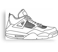 Air Jordan 4 Black Canvas Print