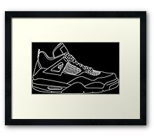 Air Jordan 4 White Framed Print