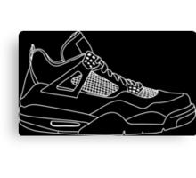 Air Jordan 4 White Canvas Print