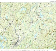 Maine USGS Historical Map Skowhegan 460881 1985 100000 by wetdryvac