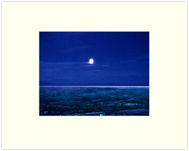 Baffin Island Moon by George Cousins