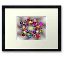 'Light Flame Abstract 298' Framed Print