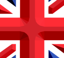 British, Union Jack, Chisel Hard, UK, United Kingdom, Flag, Blighty Sticker