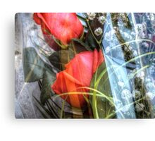Bouquet with red roses 2 Canvas Print