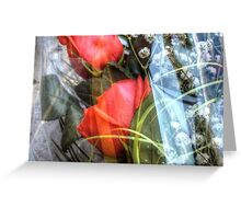 Bouquet with red roses 2 Greeting Card