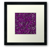 Tribal Triangles - Pink Framed Print