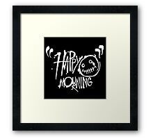 Happy Mourning Logo 2 White Framed Print