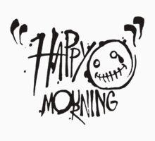 Happy Mourning Logo 2 Black  T-Shirt