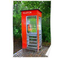 Norwegian Telephone Booth Poster
