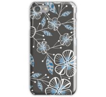 Charcoal Bouquets iPhone Case/Skin