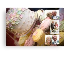 Cutting of the cake Canvas Print