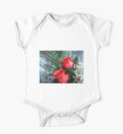 Bouquet with red roses 3 One Piece - Short Sleeve