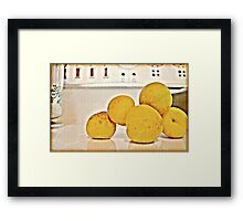 Apricracks Framed Print