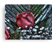 Bouquet with red roses 4 Canvas Print