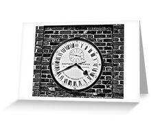 GMT Clock Greeting Card