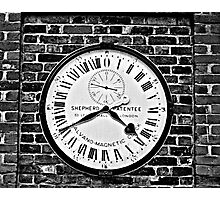 GMT Clock Photographic Print