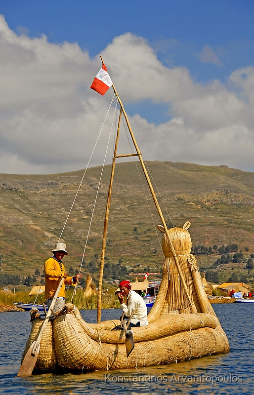 Reed boats of Lake Titicaca by Konstantinos Arvanitopoulos