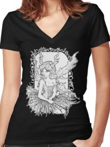 Das Faerie Gotik Women's Fitted V-Neck T-Shirt