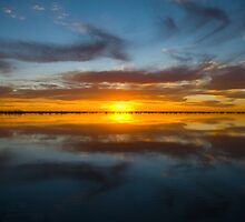 Big lake sunset by Adam Edwards