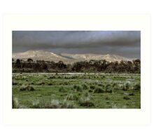 Snowy Mountains - NSW, Australia Art Print