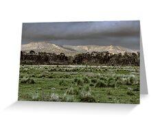Snowy Mountains - NSW, Australia Greeting Card