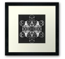 Metatron's Cube silver Framed Print