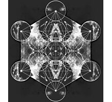 Metatron's Cube silver Photographic Print