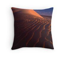 Big Red Dune Throw Pillow