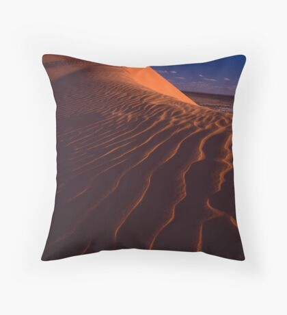 Big Red Dune Throw Pillow