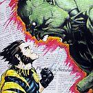 Hulk vs. Wolverine (2015) by tsena74